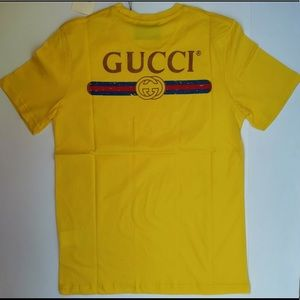 Men New Gucci Logo T-Shirt size M